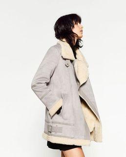 Zara suede jacket size S