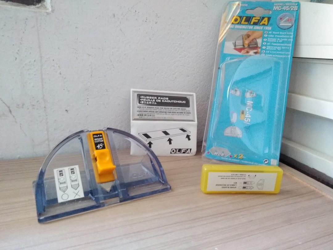 二手45度切割器 OLFA  45度角斜口刀  45度切割器  MC-45/2B 適用於設計系 or 建築系學生 日本製造
