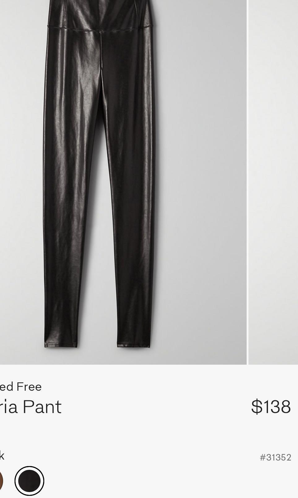 Aritzia Wilfred Free Daria leather leggings