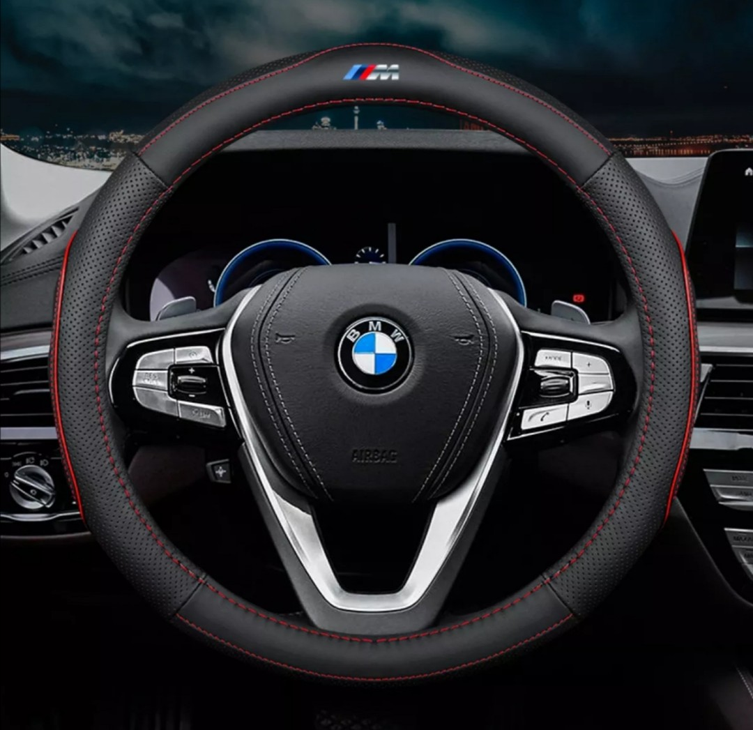 Bmw M Logo Carbon Fibre Steering Wheel Cover 38cm Car Accessories Accessories On Carousell