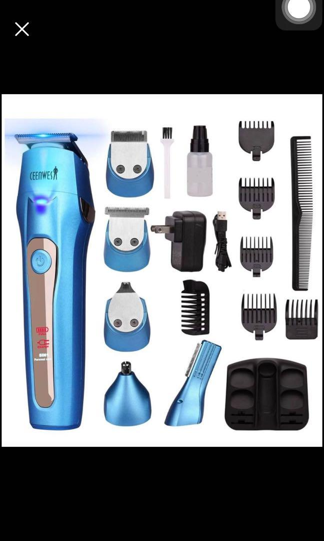 Brand new 5 In 1 Mens Grooming Kit Professional Rechargeable Beard Trimmer Hair Clippers