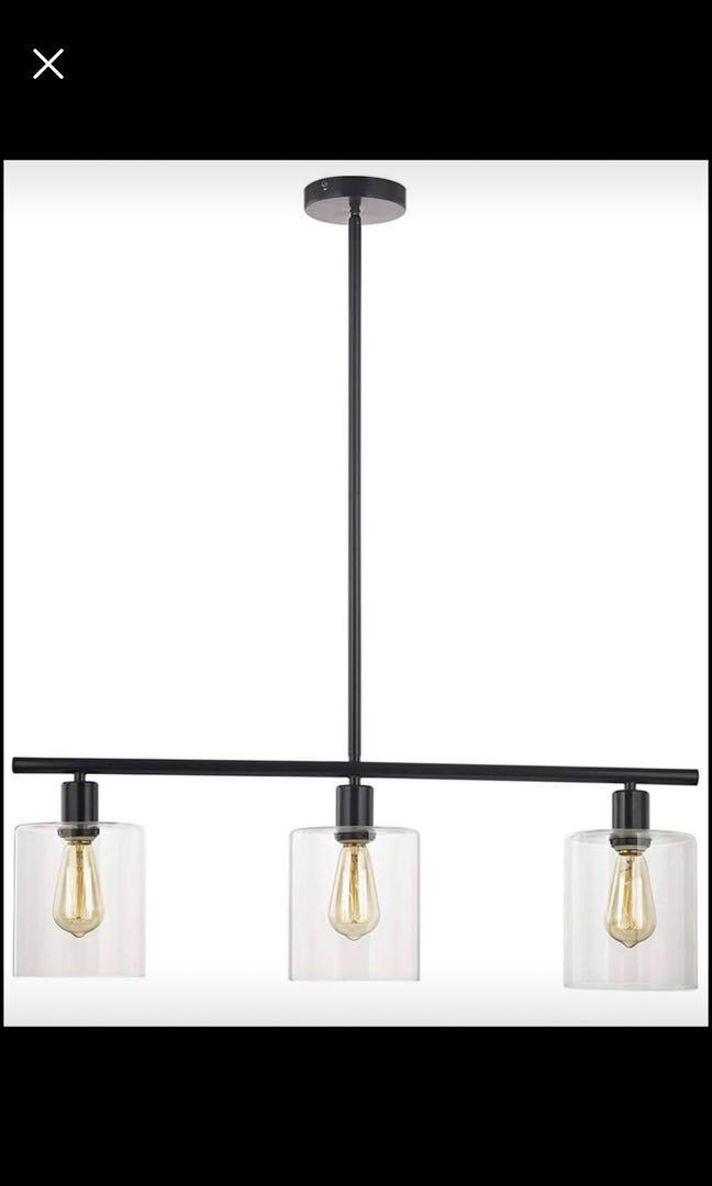 Brand new Rustic Industrial Chandeliers Modern 3-Light Glass Shades Pendant Lighting Vintage