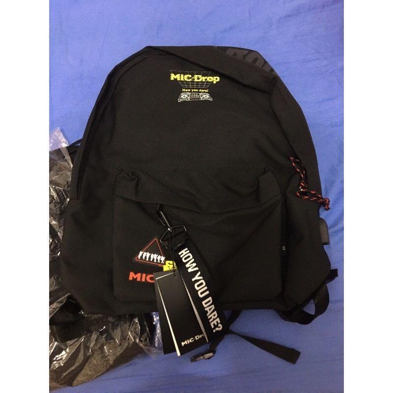 BTS 防彈少年團 MIC DROP 後背包 雙肩包 學生書包