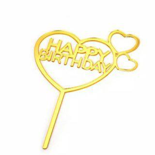 Cake topper happy birthday b day