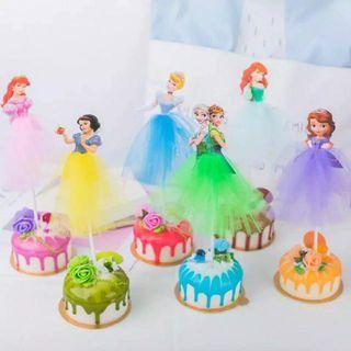 Cake topper karakter princess disney