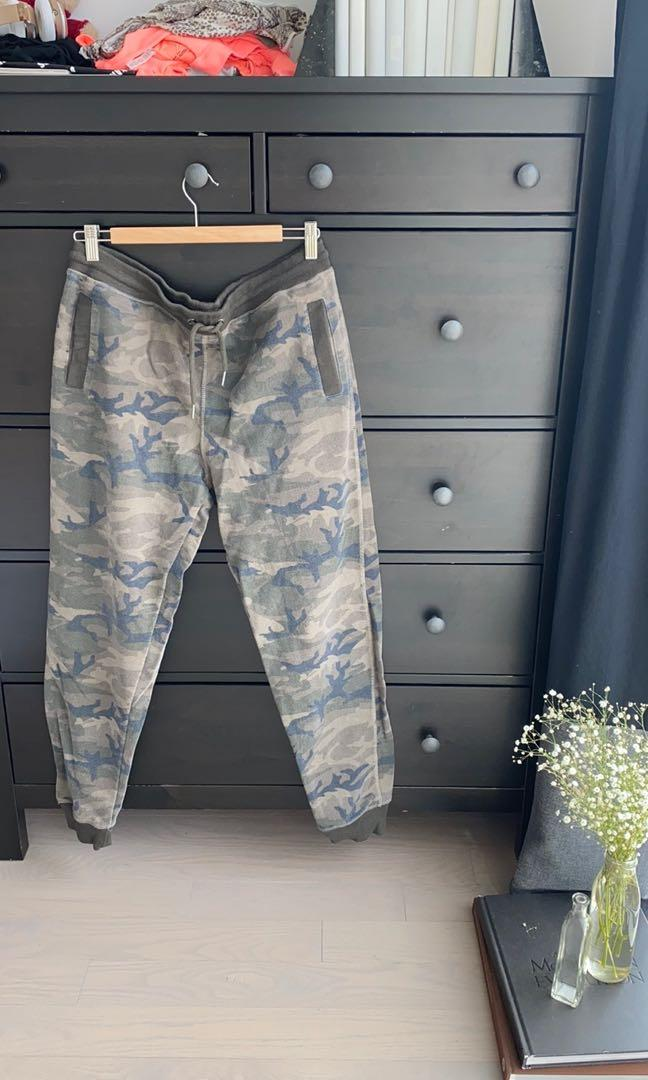 Camo Fitted Fleece Trackpants