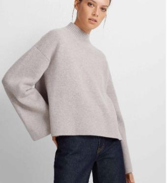 Club Monaco- Cashmere Bell Sleeve Sweater (XS)