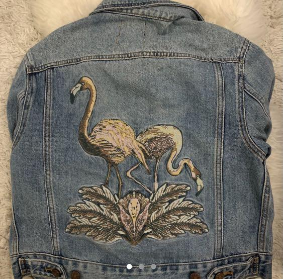 Embroidered Jean Jacket Urban Outfitters