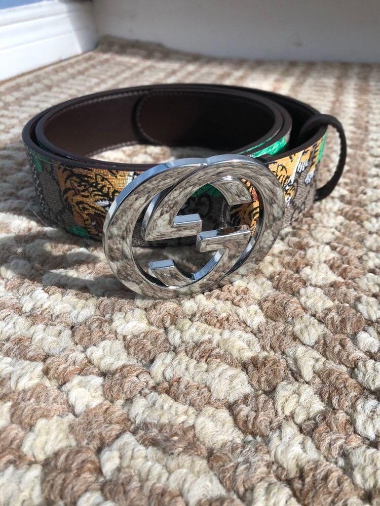 Gucci GG Supreme Tiger Monogram Belt