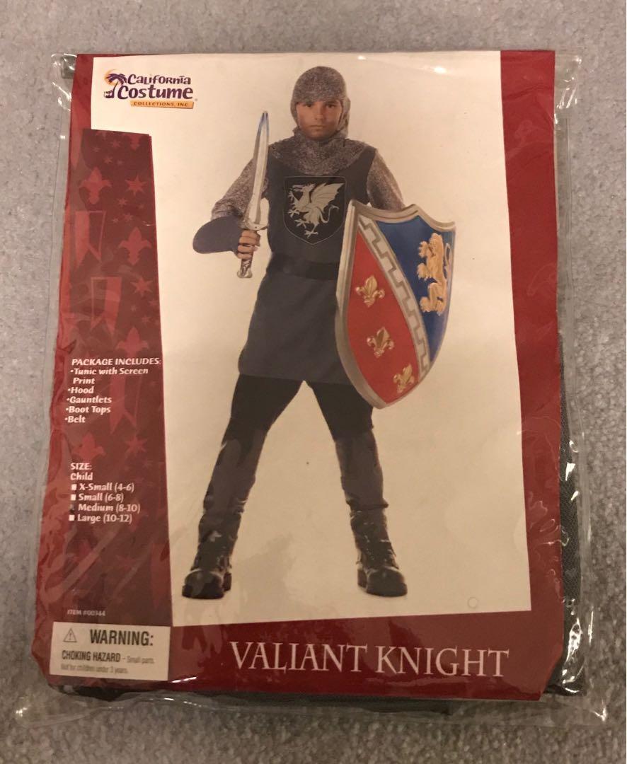 Like new California Costume Halloween valiant knight (size M / 8-10y)