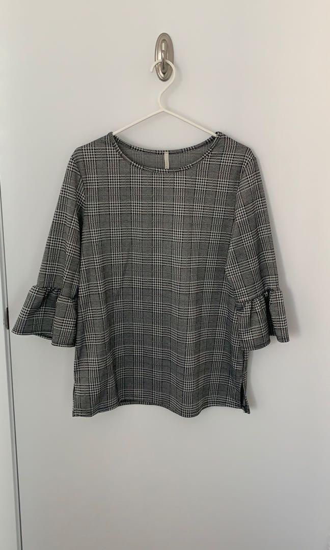 M Boutique houndstooth print blouse