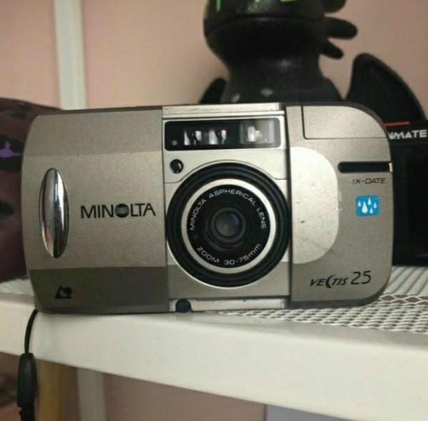 MINOLTA VECTIS 25 IX-DATE APS Film Camera w/ 30-75mm Zoom Lens
