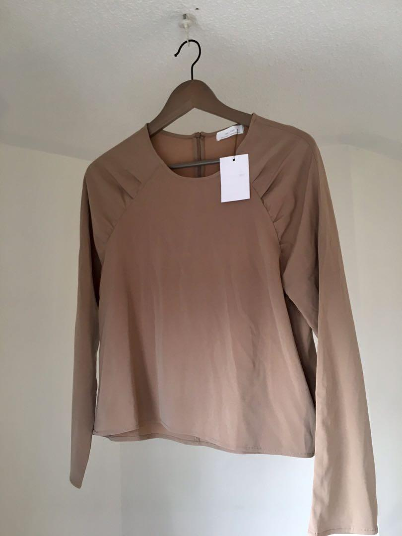 OAK + FORT Taupe blouse