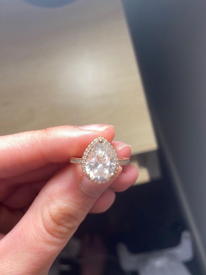 Rose gold Pandora ring