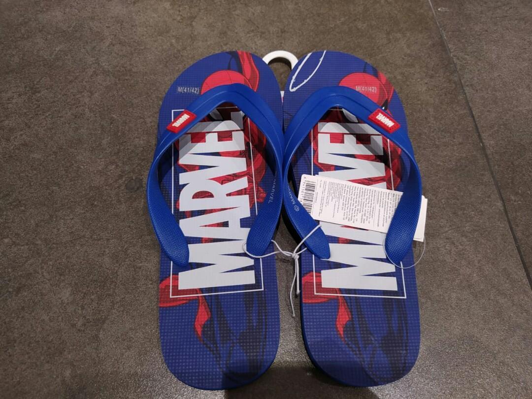 Sandal jepit miniso x marvel biru