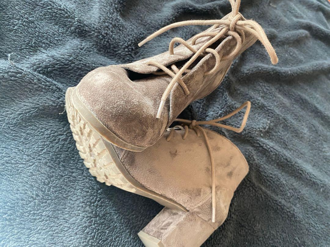 Steven madden torch lace-up booties