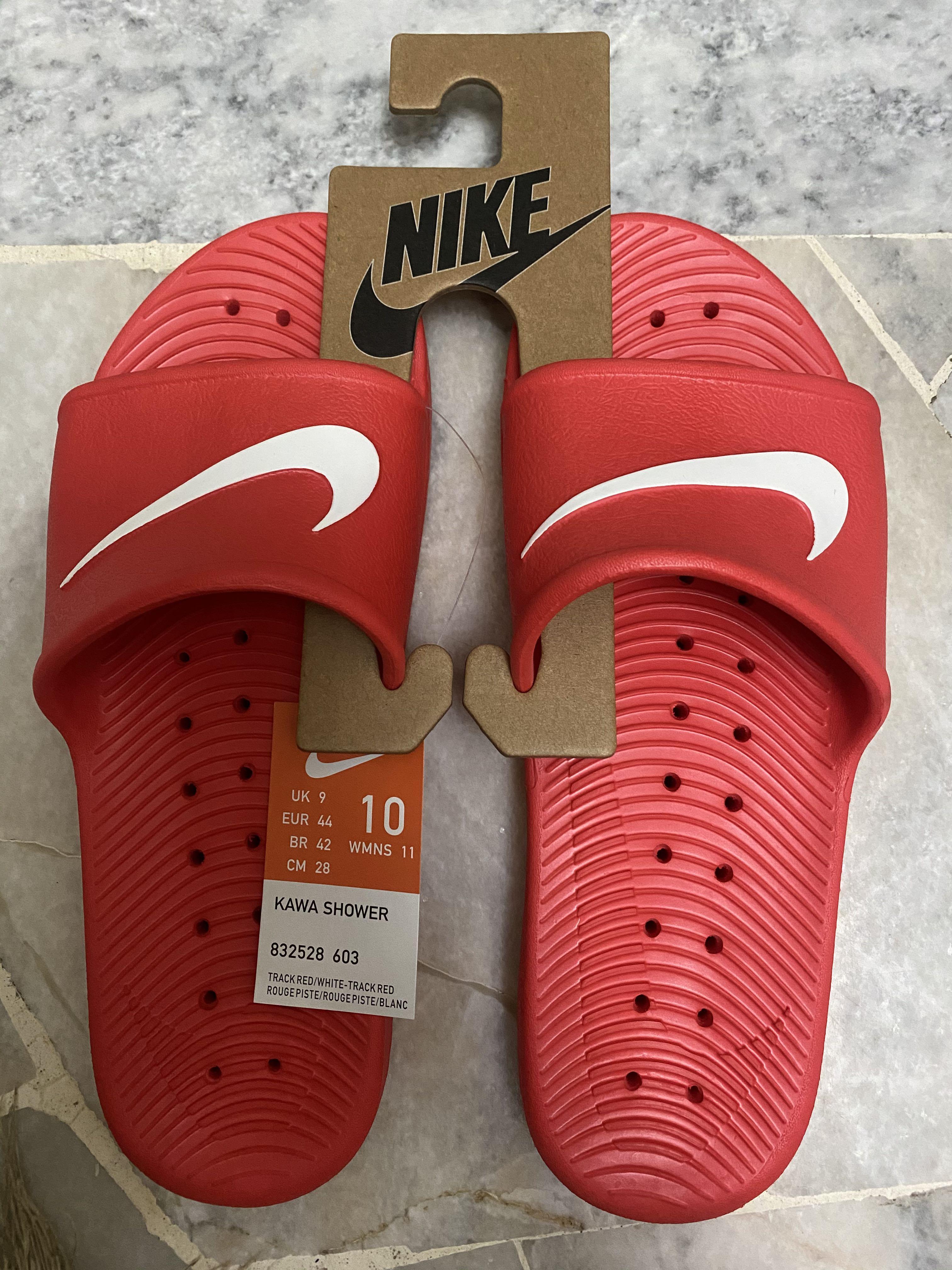 maroon nike slippers