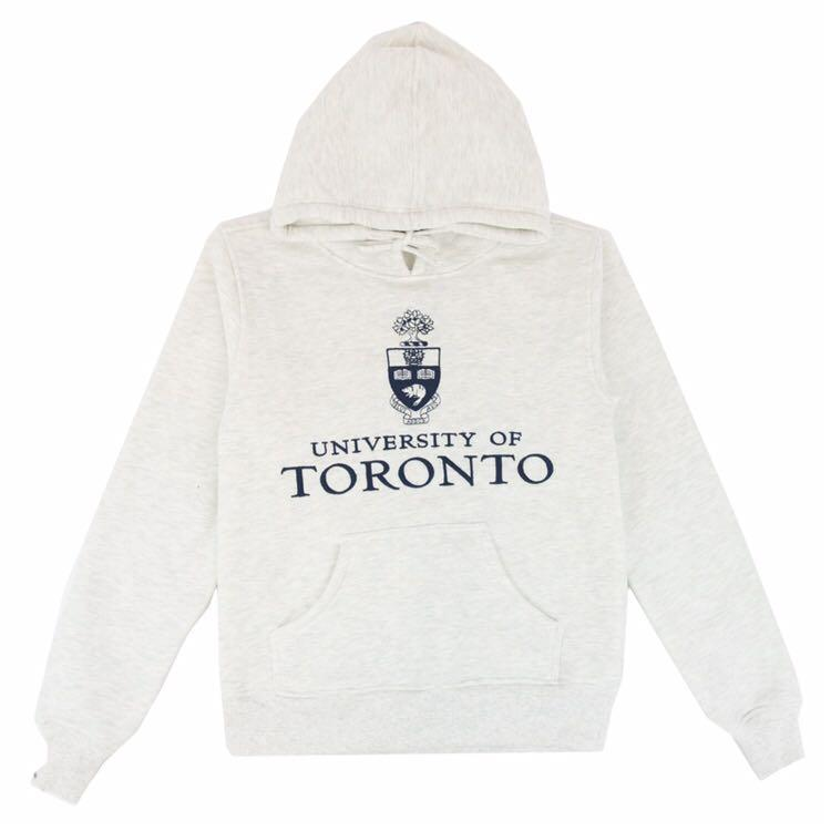 🌟UofT Embroidered Stacked Signature Hoodie Sweater Varsity Collection - ash/light grey