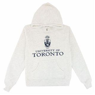 UofT Ash/Light Grey Embroidered Signature Hoodie Sweater (Varsity Collection)