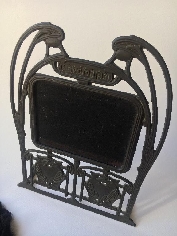 Vintage Art Deco/ Art Nouveau cast iron photo frame