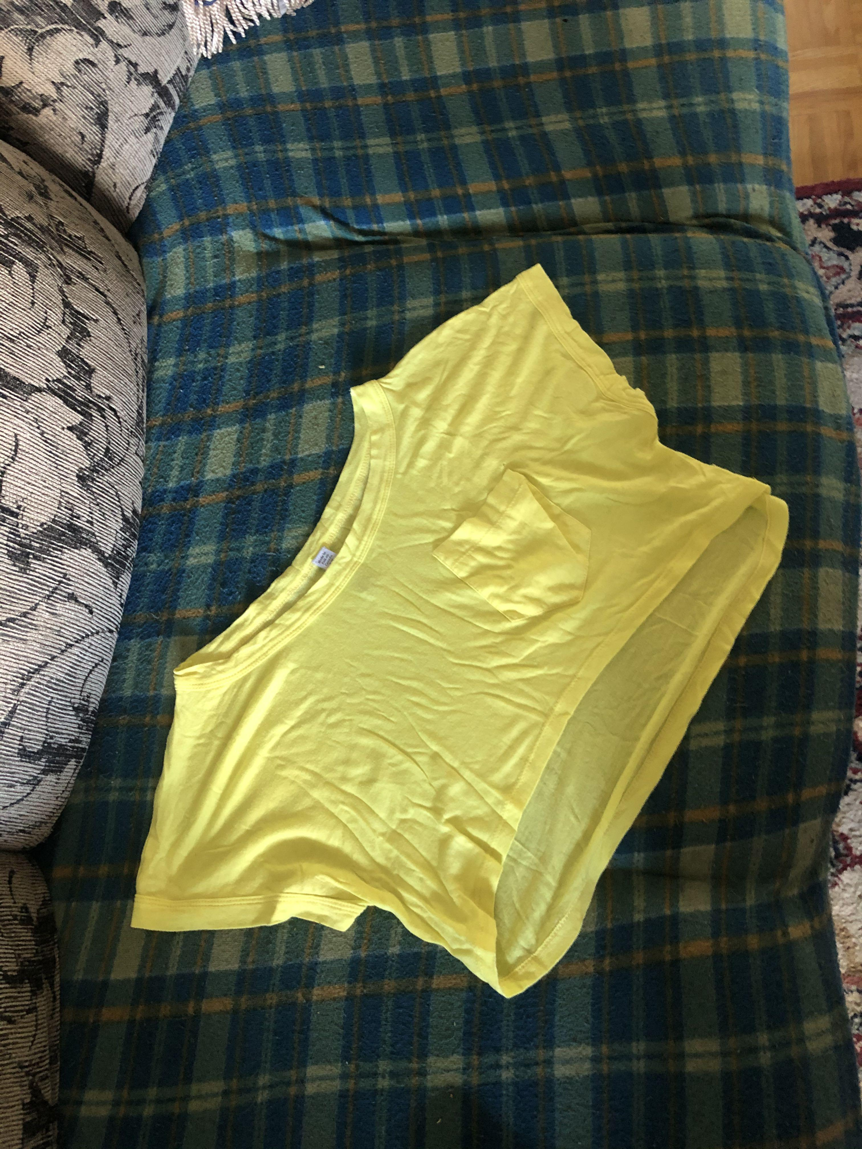 Yellow crop top size small