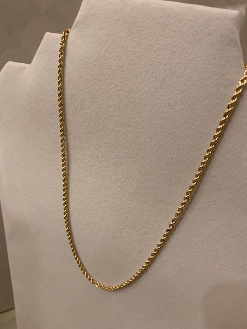 "2.5mm Rope Chain 16"" 10kt Gold"