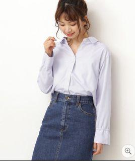 原價2千! 全新日本帶回! Moussy風格藍直條襯衫✨Audrey日單✨