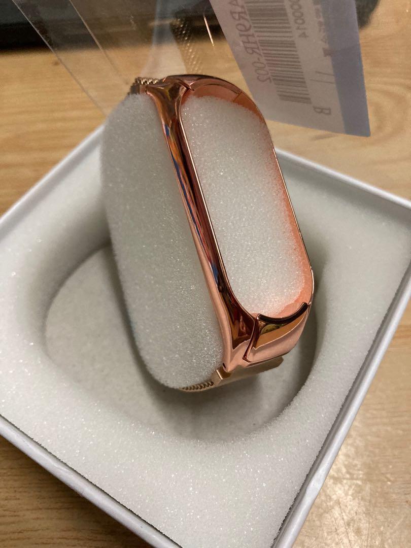 小米手環5米蘭尼斯玫瑰金磁吸腕帶