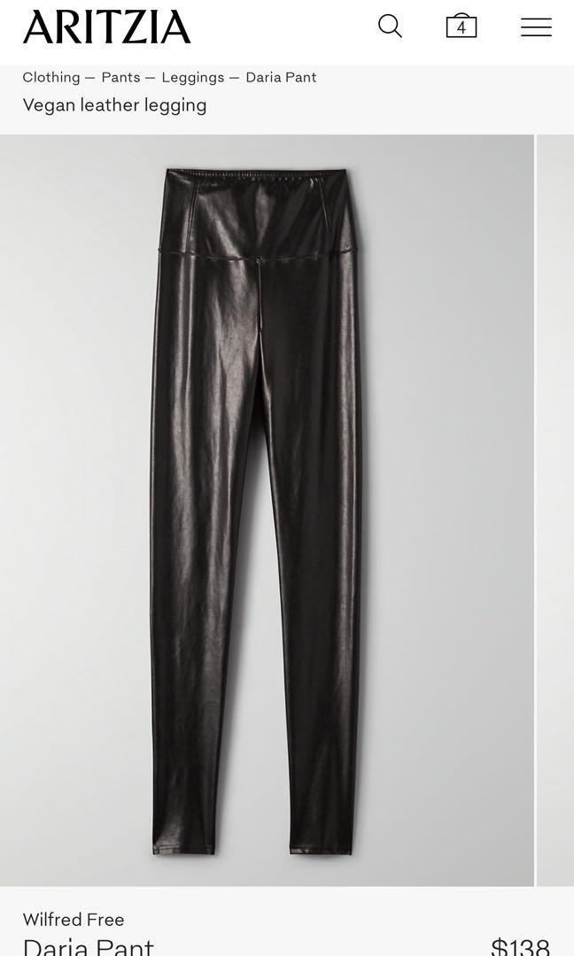 ARITZIA Daria Pant - Vegan leather Black size Small
