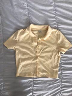 Aritzia Sunday best button up collar shirt