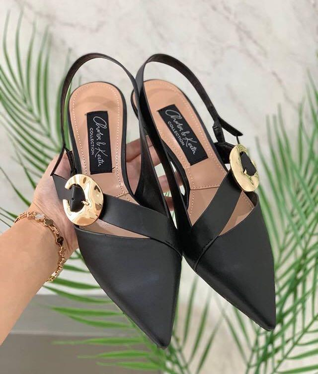 Charles and Keith Buckle Heels