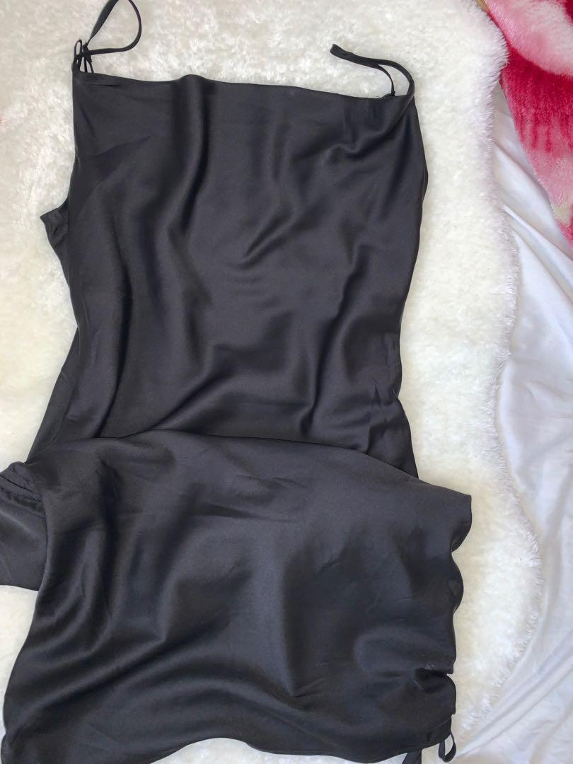 garage satin dress size s