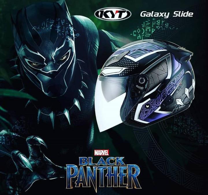 KYT Galaxy Slide Black Phanter