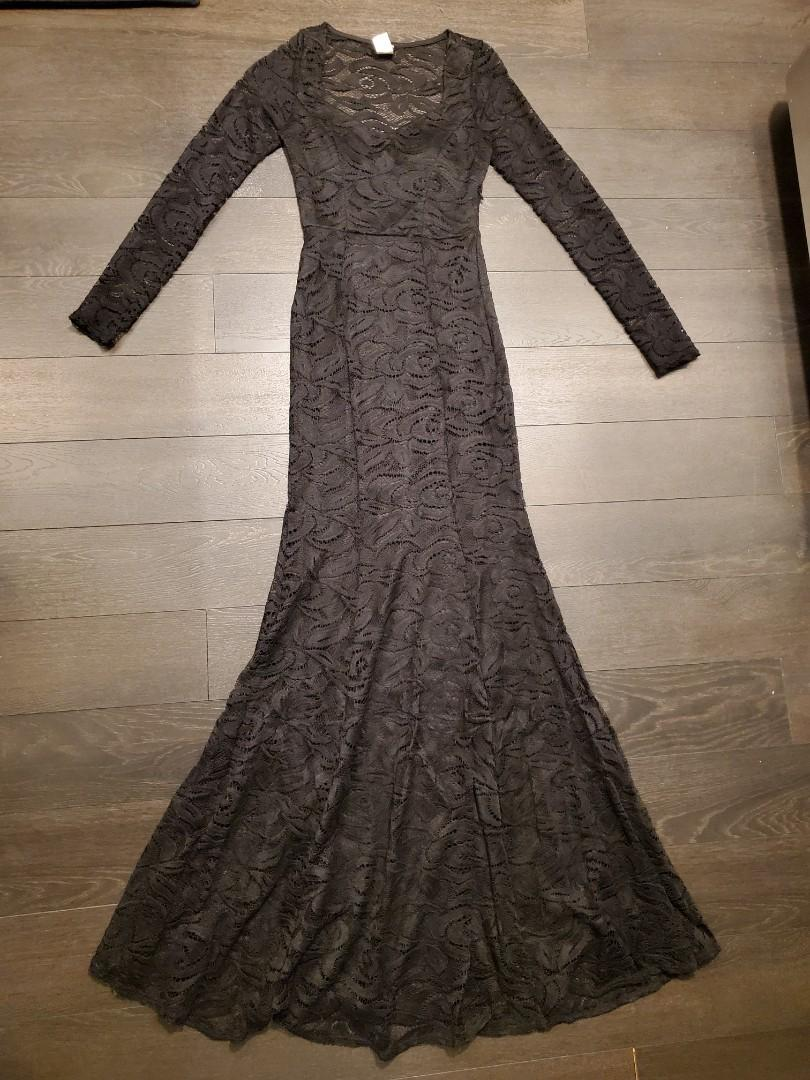 Lace Dress/ Gown - Size: S