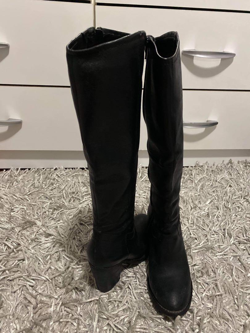 Steve Madden 6.5 leather boots