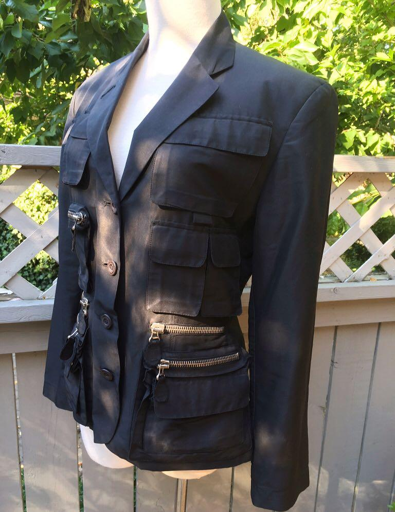 ⭐️⭐️⭐️LIKE NEW CONDITION⭐️⭐️⭐️Vintage JEAN PAUL GAULTIER 1990's Black Military style Jacket