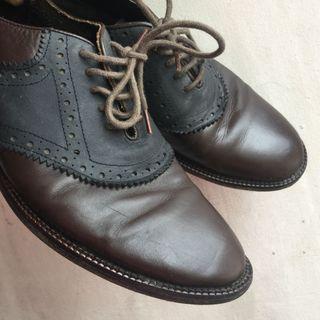 Men's Asos brogue brown leather shoes