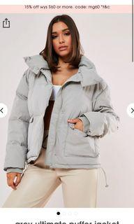 Missguided Ultimate Grey Puffer US8