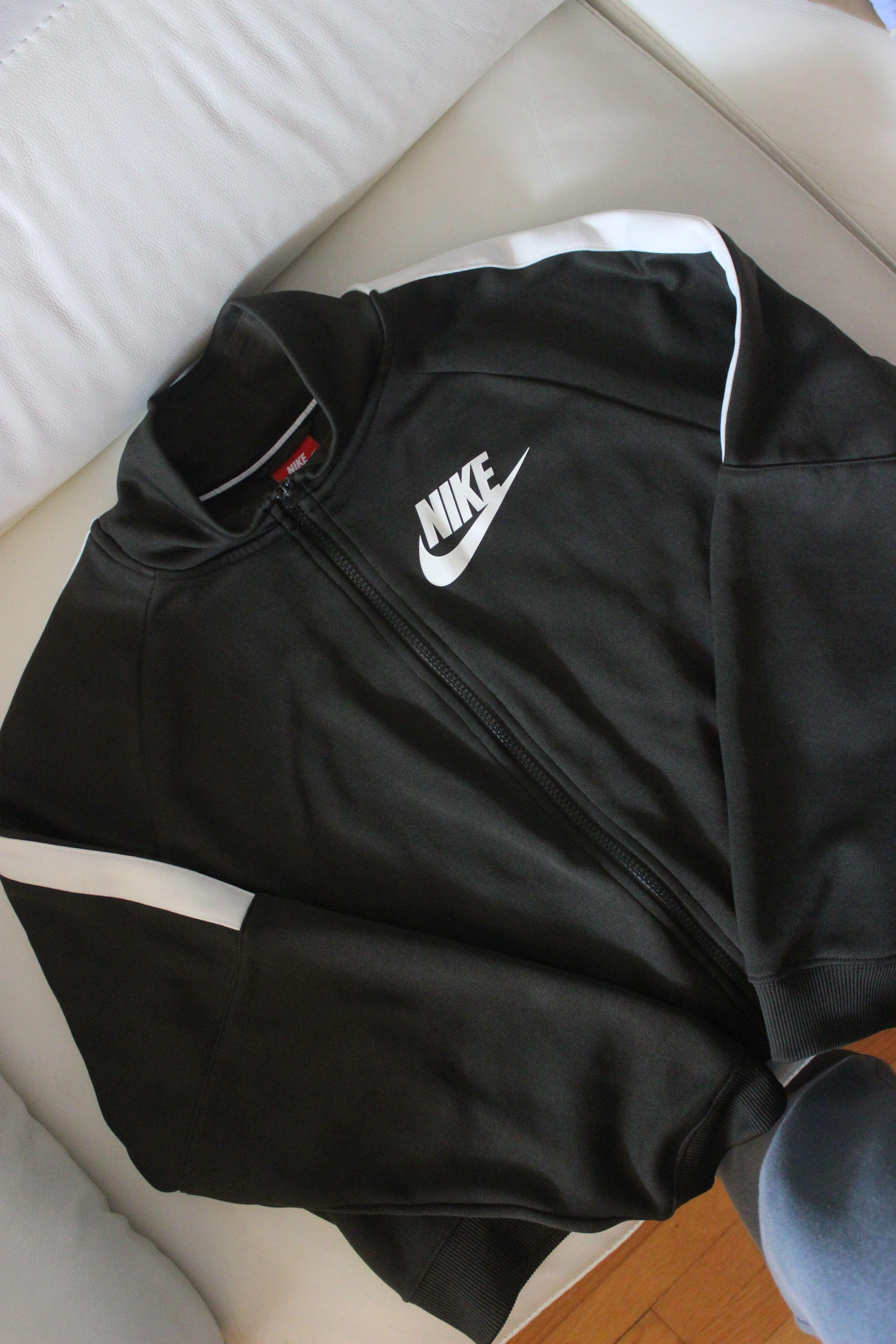 Nike cropped zip up sweater