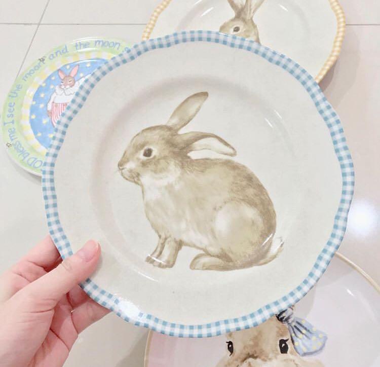 porcelain plate 🐰 piring