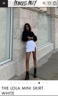 Princess Polly White Mini Skirt Size 2