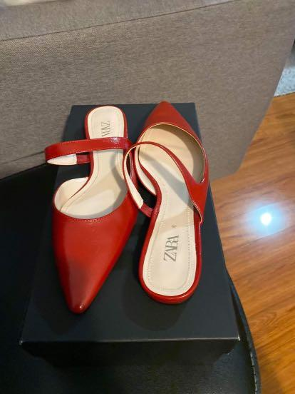 Red Zara shoes 6
