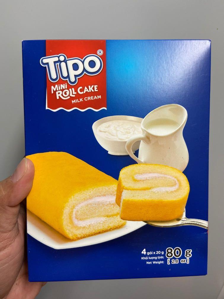 Tipo牛奶口味瑞士捲,4包/盒,效期:2021/1/9