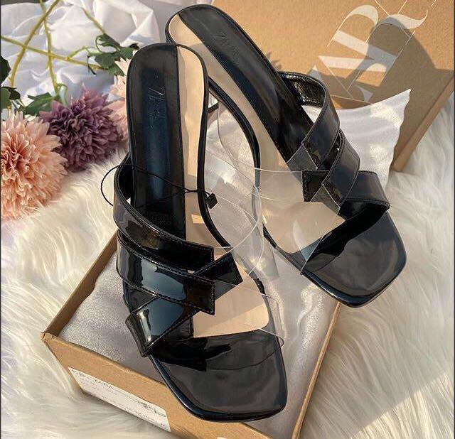 Zara Vinyl Heels