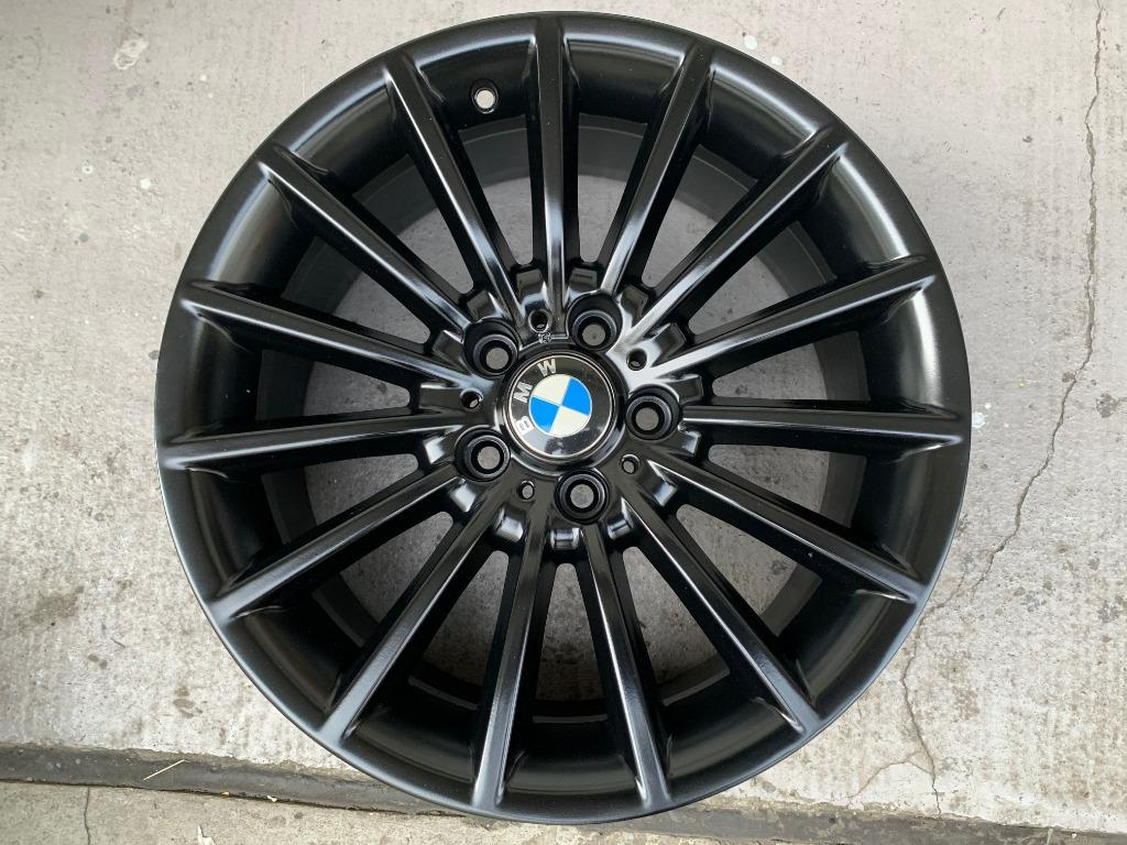 18 Original Bmw Matte Black Sports Rim 5 X 120 Car Accessories Tyres Rims On Carousell