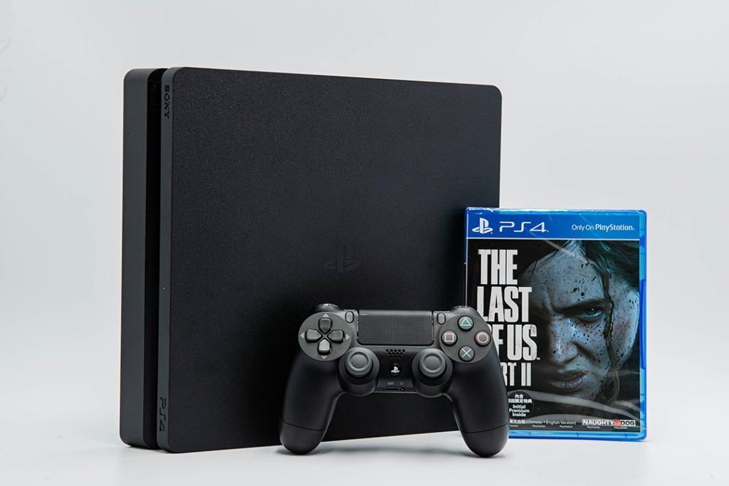 含全新最後生還者2 保內 Sony PS4 slim 1TB CUH-2218B 極致黑 電玩 主機