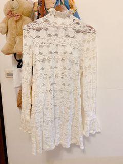 正韓蕾絲花氣質性感洋裝