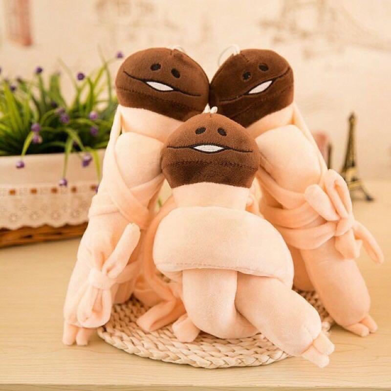 可愛娃娃 蘑菇人 方吉 滑子菇  毛絨掛件 超長!!