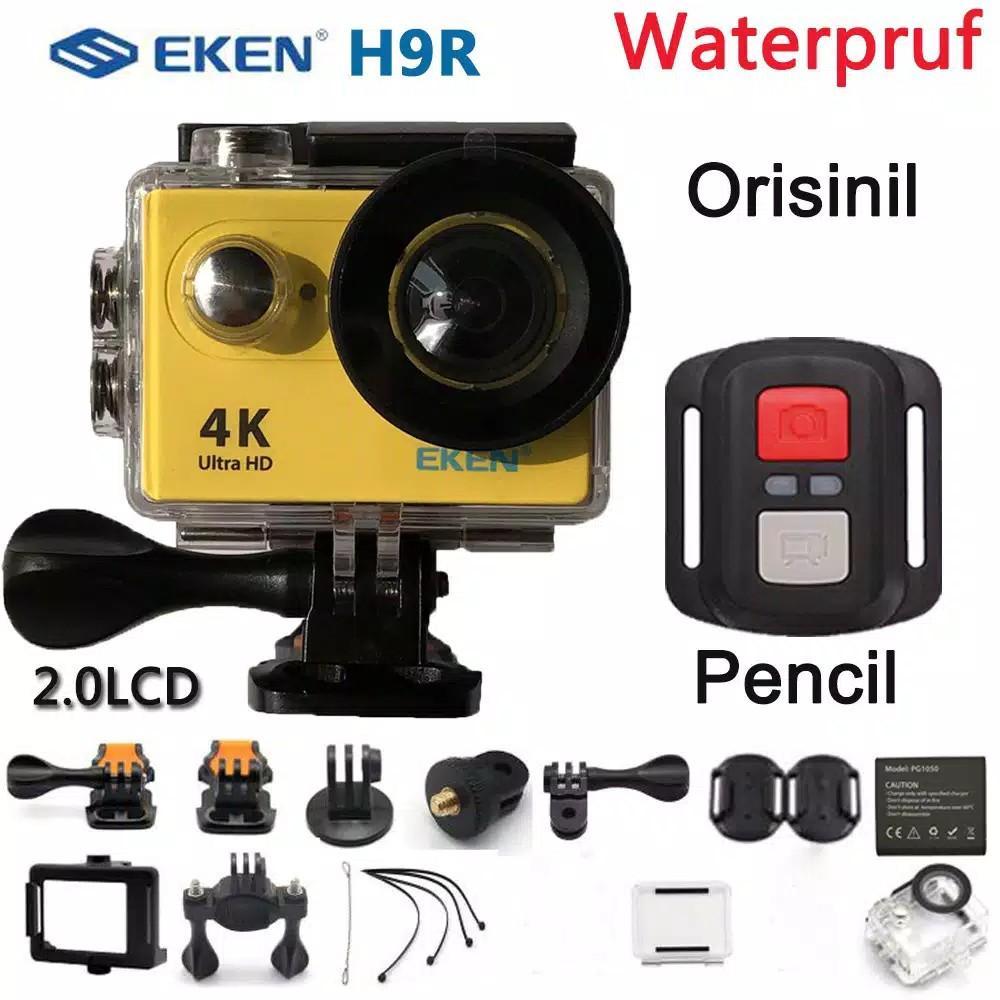 """Bayar di Tempat ] Eken H9R Kamera Action Ultra HD 4K 25fps WiFi 2.0 """"170D Anti Air"""