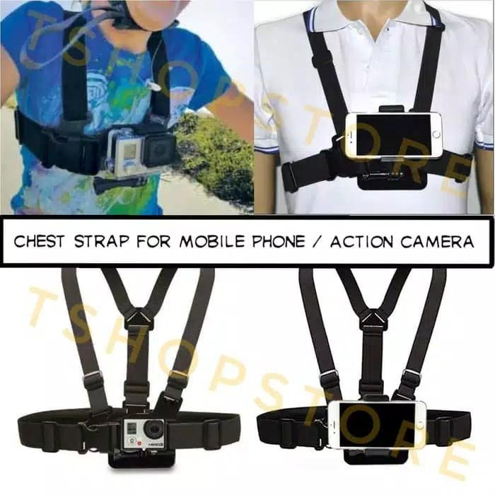 Body Chest Strap for Handphone (Free Mounting + Holder) Samsung Iphone Xiaomi Redmi